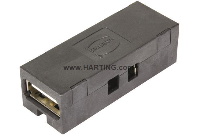 USB 2.0 HIFF Bulkhead coupler type A-A