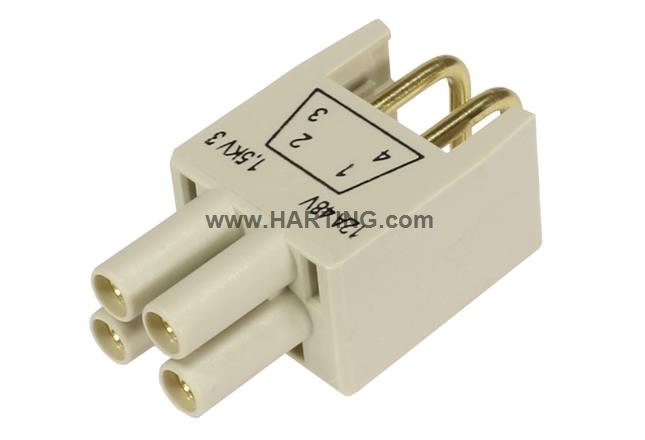 HPP V4 Power insert THT 48V/12A 4p 90°