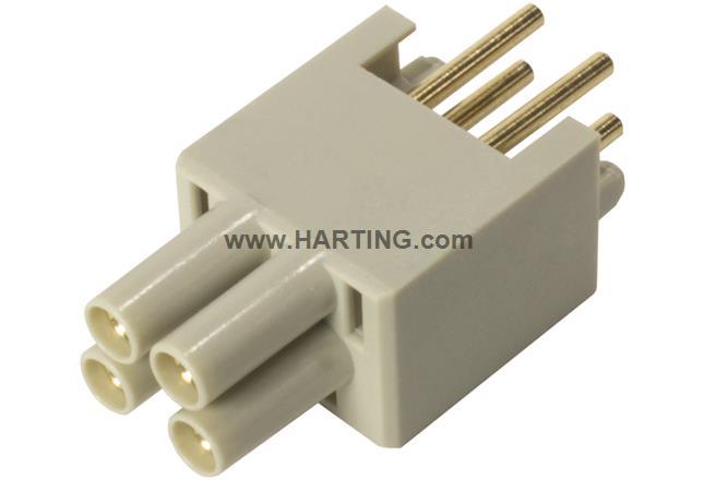 HPP V4 Power insert THT 48V/12A 4p vert.