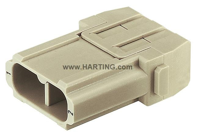 Han 40A crimp module, male For UL 1000V