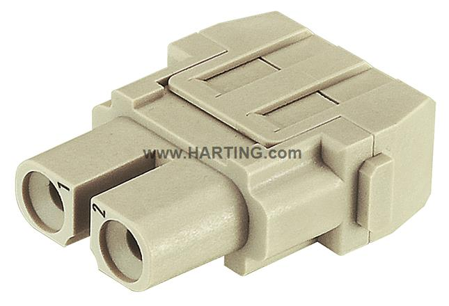 Han 40A crimp module, female UL 1000V
