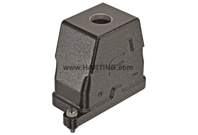 Han 10HPR Hood Top Entry M32 Screw lock