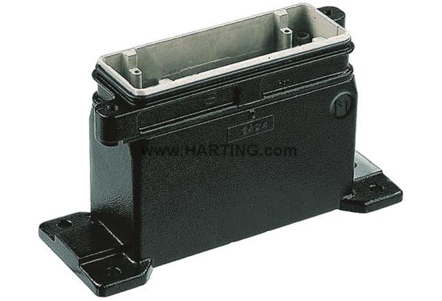 Han 10HPR Base panel 1x M40 screw lock