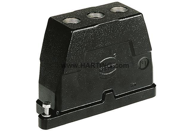 Han 24HPR Hood TE 3xM25 Screw Lock
