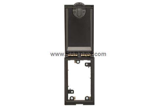 Han-Port Rahmen 1-fach, sw, Metalldeckel