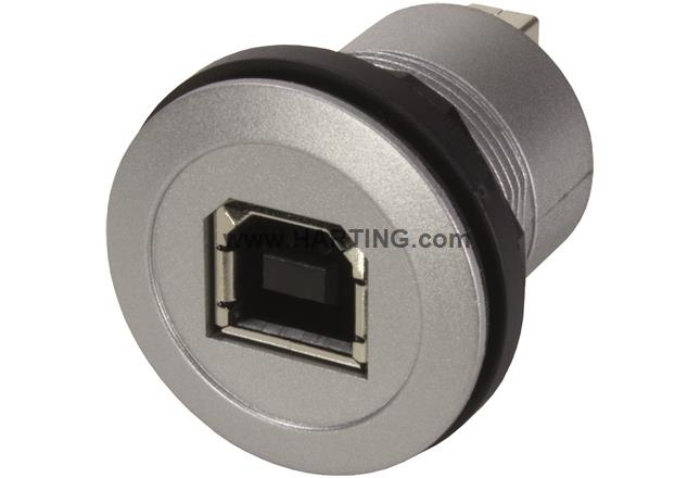 har-port USB 2.0 B-A coupler silver