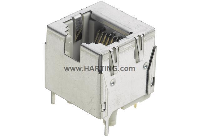 Han PushPull RJ45 jack soldering 180°