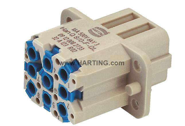 Han Q8/0-F-QL 20-14 AWG fine strand wire