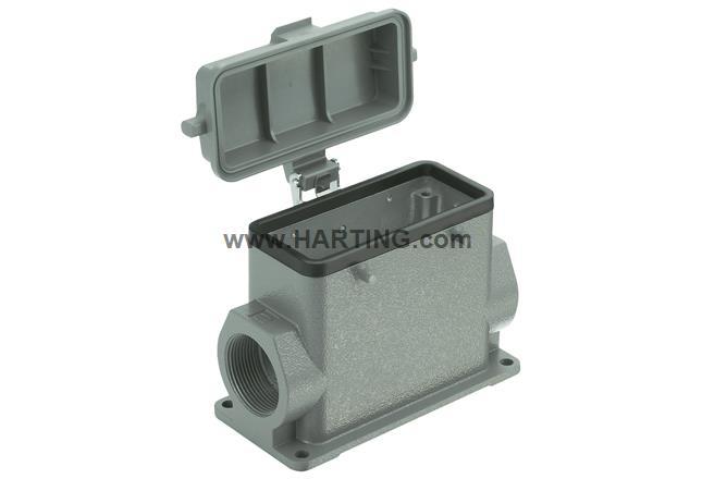Han B Base SM HC 4 Peg plast cover 2xM32