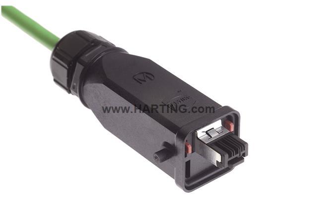 Han3A RJ45 Cat5 plug 4p IDC, plastic