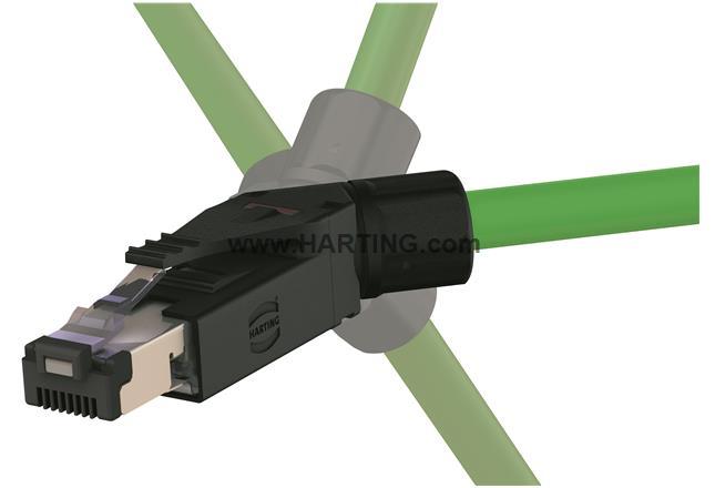 RJI RJ45 PN plug Cat5, 4p IDC angled