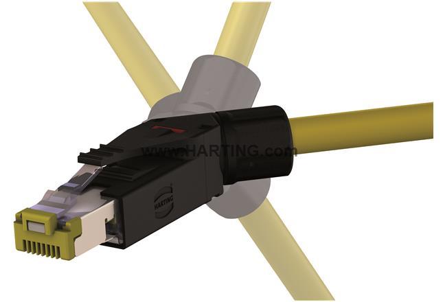 RJI 10G RJ45 plug Cat6, 8p IDC angled