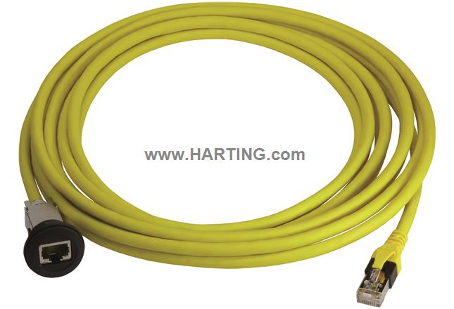 har-port RJ45 Cat.6; PFT 0,3m black