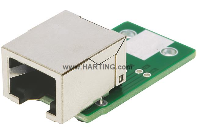 RJI RJ45 coupler PCB 1x RJ45+solder