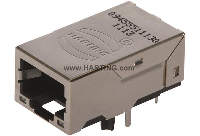 RJI RJ45 jack w. transformer 1 Gbit