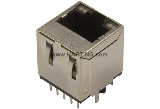 RJI RJ45 jack 1Gbit vert. biCo LED gn/ye