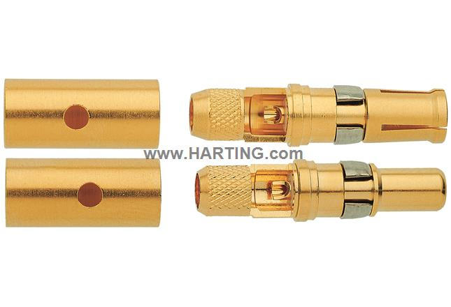 Han-Modular coax M-contact 50Ohm (RG58)