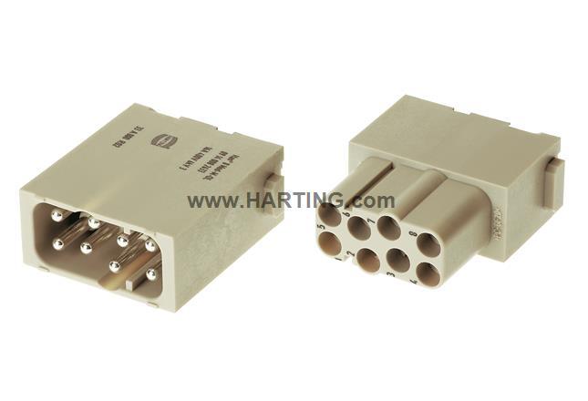 Han EE Quick-Lock module, male 1,5mm²