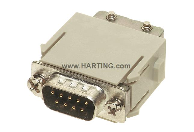 Han D-Sub module, crimp male