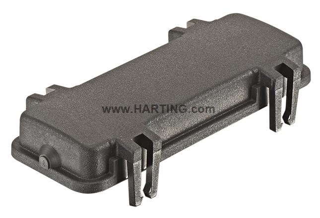 Han 24B Prot.Cover w latch Plastic black