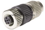 Circular Connector w. Harax M12 L 4 F