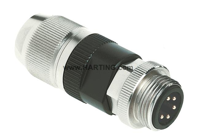 "circular Connector w. Harax 7/8"" L5 M"