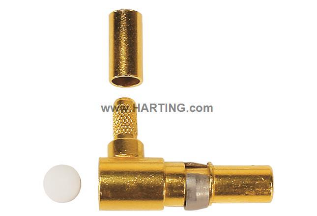 DIN-Signal coax f, solder/crimp, 50Ohm