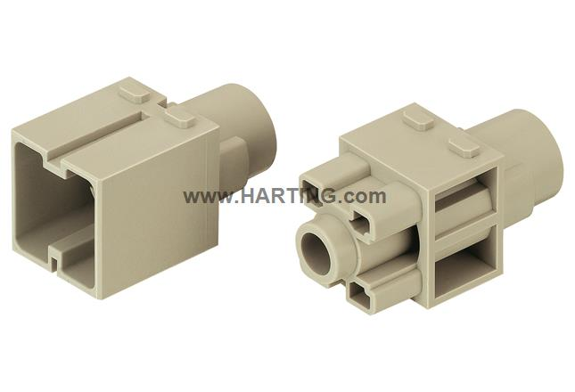 Han 200A crimp module, male
