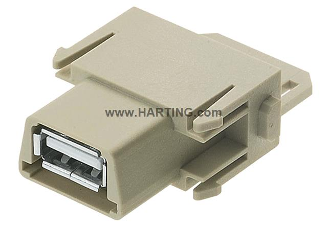 Han USB module, female gender changer