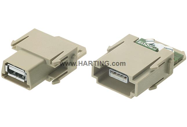 Han USB module, female gender changer