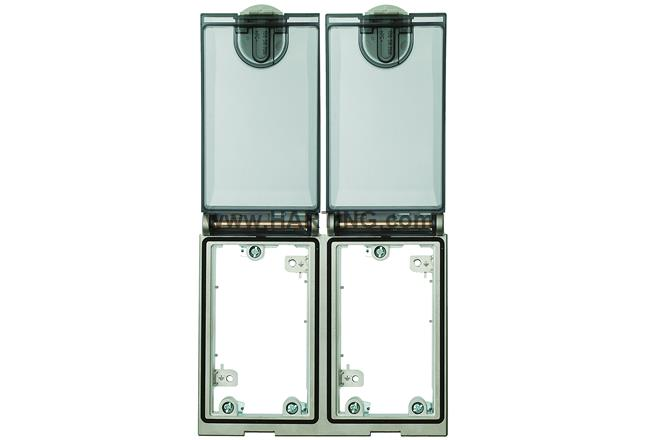 Double Frame, Ni plated, plastic cover | HARTING Technology