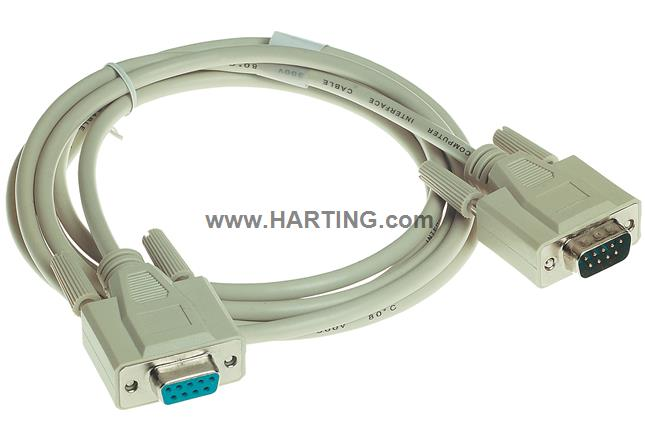 Cable SUB-D9,f-m; 2 m