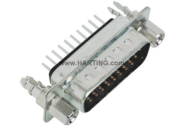 D SUB HD MA STR 15P PL3_4-40 SCREW LOCK