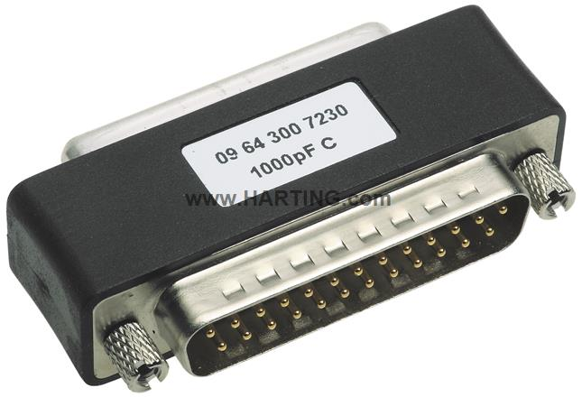 M/F DSUB FILTER ADAPTER 9PIN 3900PF
