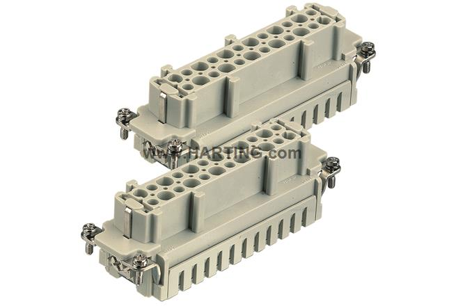 Han ES Press Series Insert 16B 16 Contacts HARTING Heavy Duty Connector Cage Clamp Socket 09332162748 Receptacle