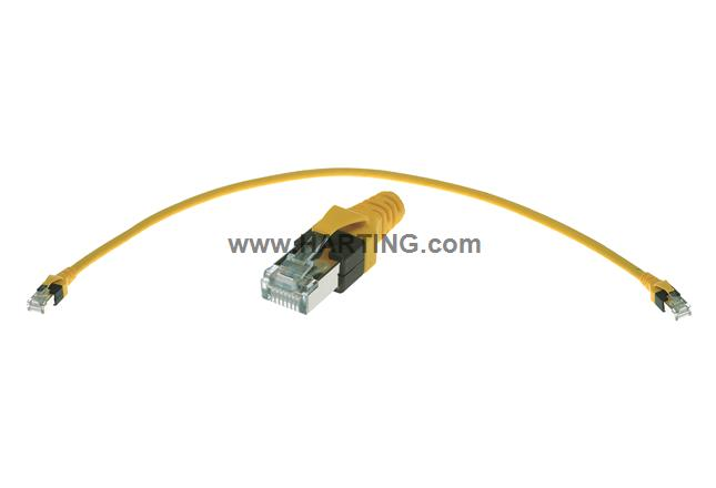 RJ45 overmolded patch cable Cat 6 1,0m