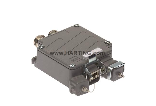 RJI Han3A RJ45 Cat5 Metal Outlet IP65/67