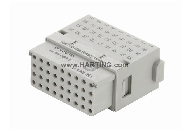 Han Full High Density Module, crimp-F