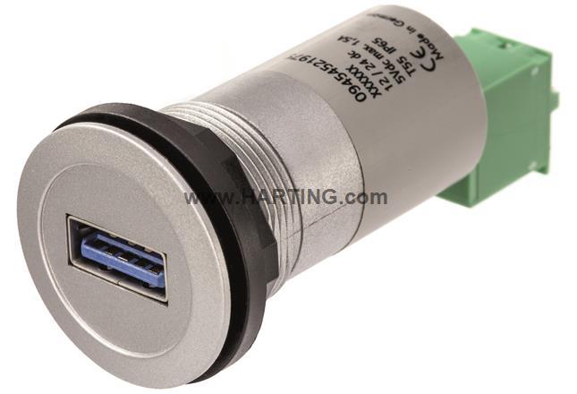 har-port USB charger 5V/1,5A silver
