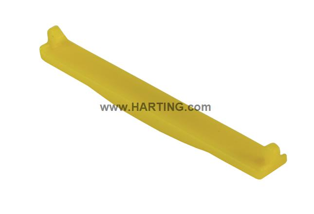 PP V4 coding clip for receptacle; yellow
