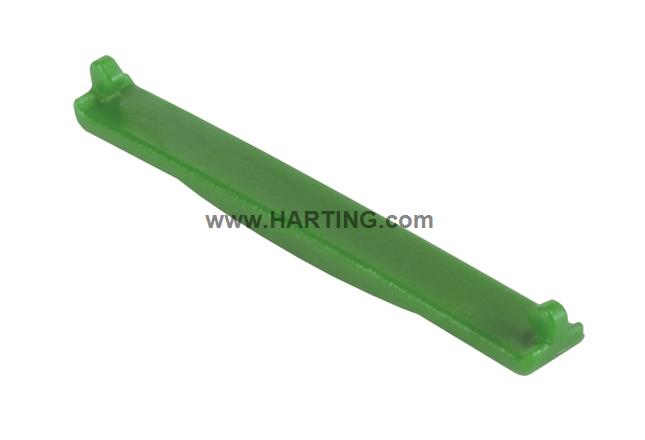 PP V4 coding clip for receptacle; green