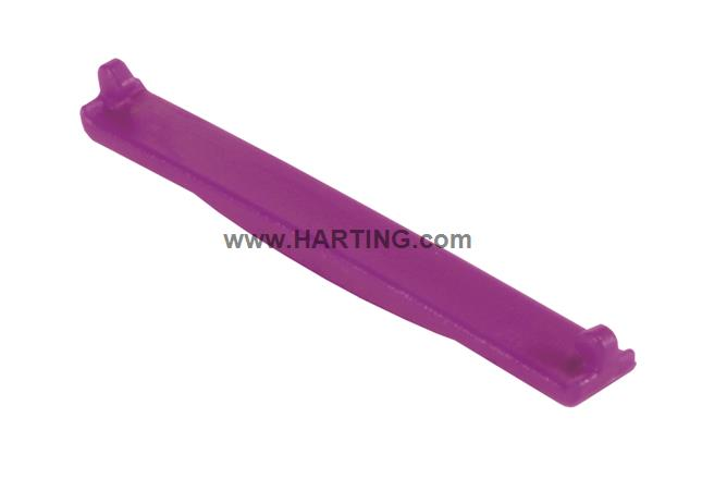 PP V4 coding clip for receptacle; violet
