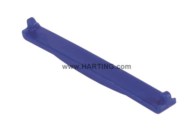 PP V4 coding clip for receptacle; blue