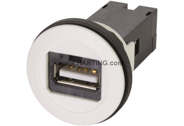 har-port USB 2.0 A-A ; PFT white