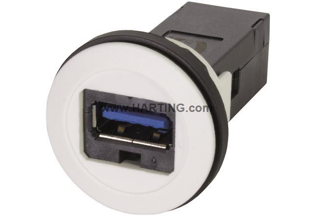 har-port USB 3.0 A-A PFT white