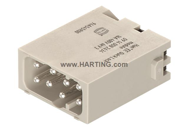 Han EE Quick-Lock module, male 1,5mm²