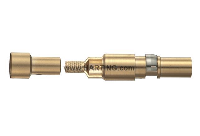 Han-Modular coax F-contact 75Ohm (RG179)