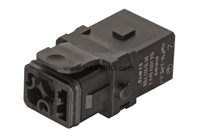 Han 1A-3+PE-c-f shielded, latch