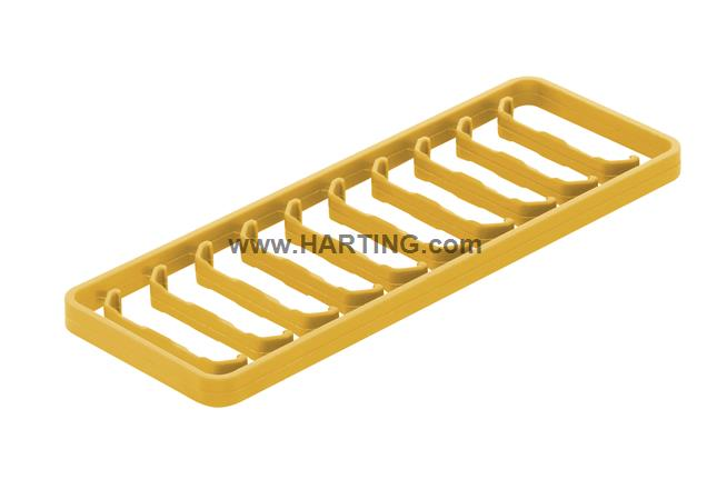 Han 1A-coding clip yellow / 10 per frame