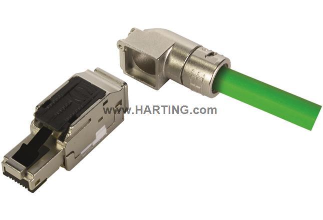 RJI MF-PN RJ45 plug Cat5, 4p IDC angled
